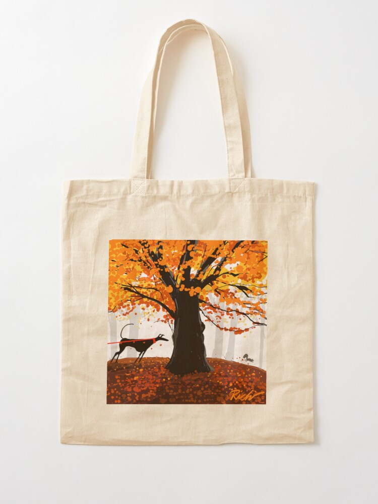 Alternate view of The Autumn Oak, The Hound, and The Squirrel Tote Bag