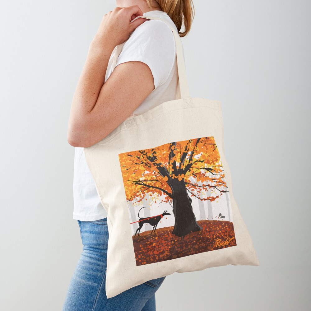 The Autumn Oak, The Hound, and The Squirrel Tote Bag