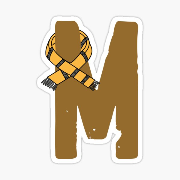 Honest, Loyal, Inclusive and Kind Letter M Sticker