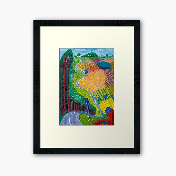 Going Up Hill Framed Art Print