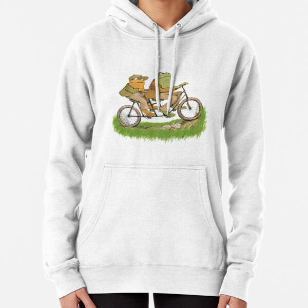 frog and toad on the bike Pullover Hoodie