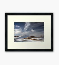 White brush strokes Framed Print
