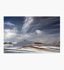 White brush strokes Photographic Print