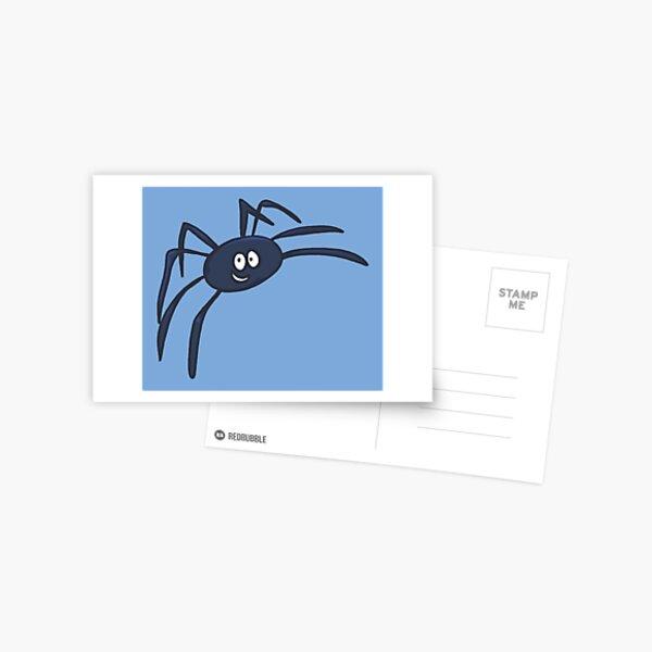 Blue Spider - Blue Background Postcard