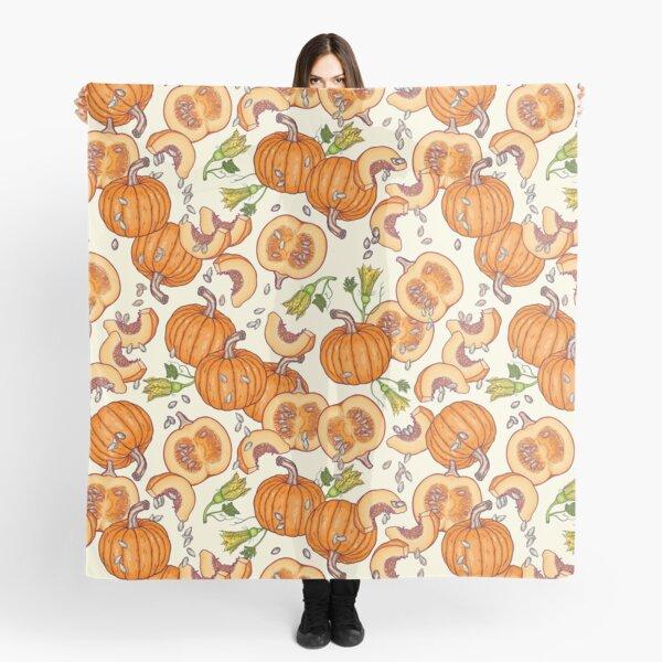 lucky autumn pumpkin pattern Scarf