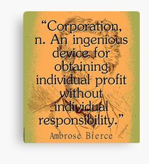 Corporation - Bierce Canvas Print
