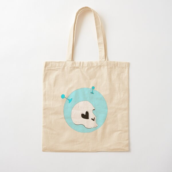 Lonely Astronaut in Blue Cotton Tote Bag