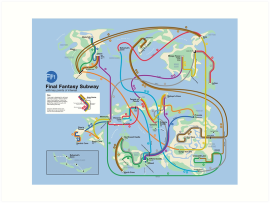 Final Fantasy Subway - NES Maps Series\