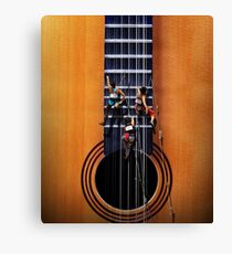 Surreal Guitar Climbers Canvas Print