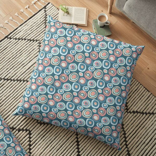 Abstract circles pattern Floor Pillow
