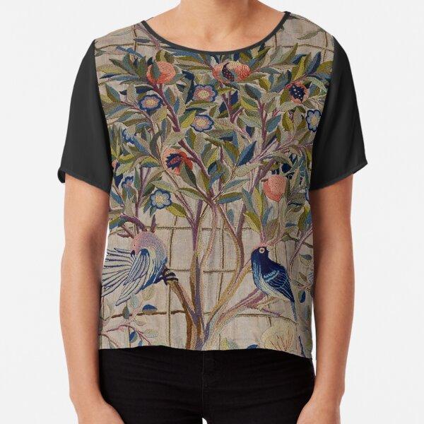 William Morris Kelmscott Trellis Embroidery Chiffon Top