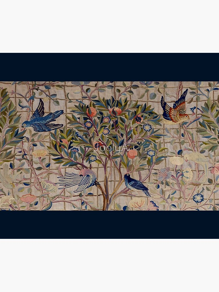 William Morris Kelmscott Trellis Embroidery by JoolyA