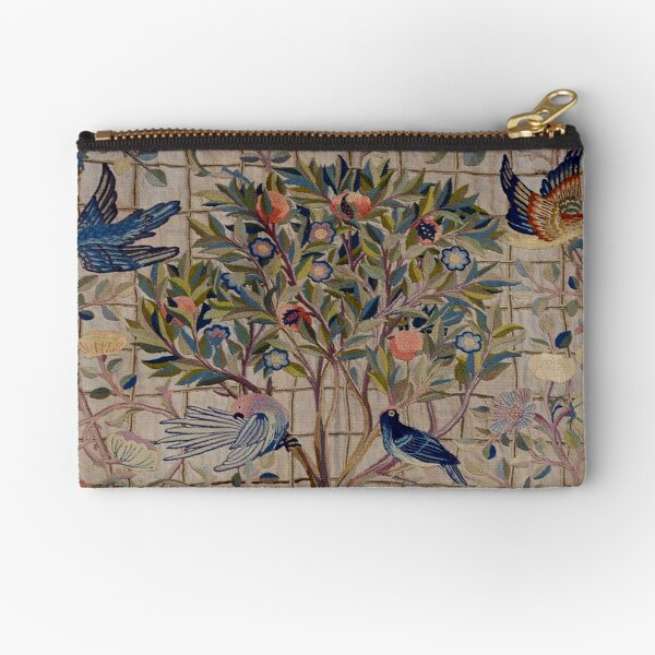 William Morris Kelmscott Trellis Embroidery Zipper Pouch