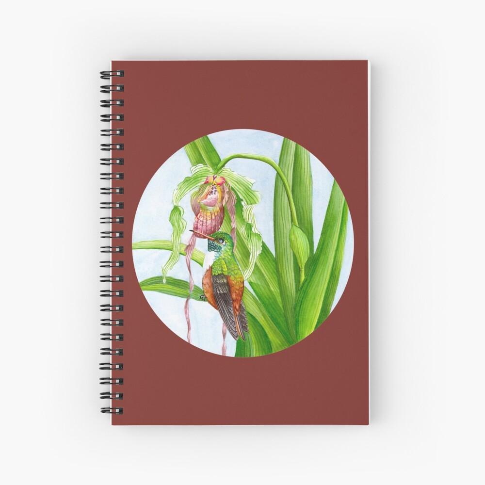 Hummingbird & Orchid I Spiral Notebook