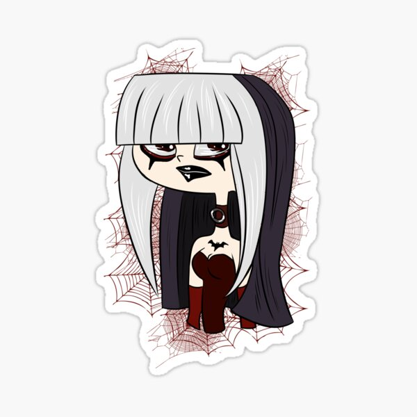 Crimson Gothic Drama Sticker