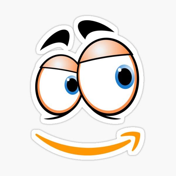Amazon smirk face Sticker