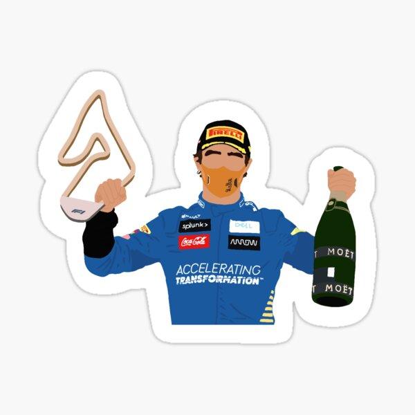 Lando Norris célèbre son podium au Grand Prix d'Autriche 2020 Sticker