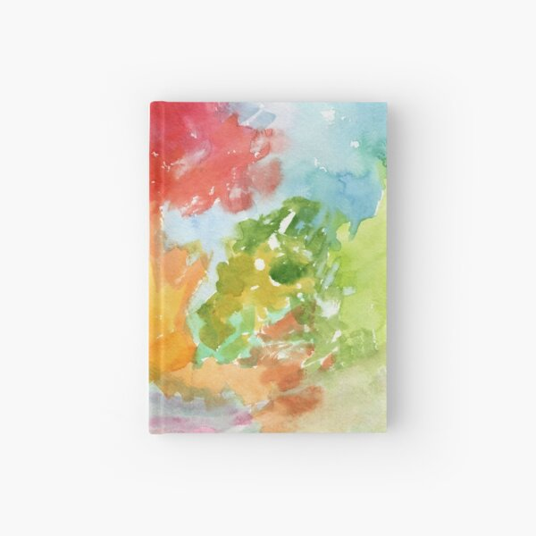 Autumn Arboretum Abstract Painting by Carrie Lacey Boerio Hardcover Journal