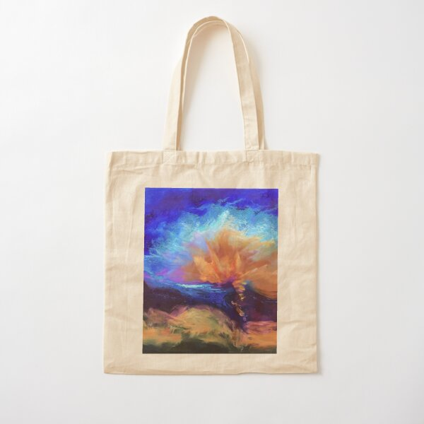Color Burst Painting by Carrie Lacey Boerio Cotton Tote Bag