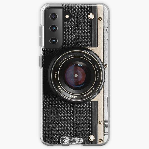 Classic vintage camera | retro photographer nostalgia | gold 01 Samsung Galaxy Soft Case