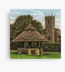 The old well on the green, Woodbastwick Canvas Print