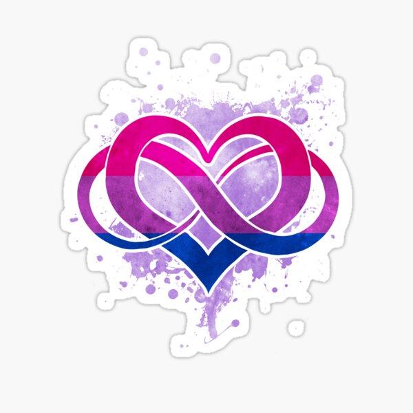 Bi flag - Poly heart - LGBT symbol Sticker
