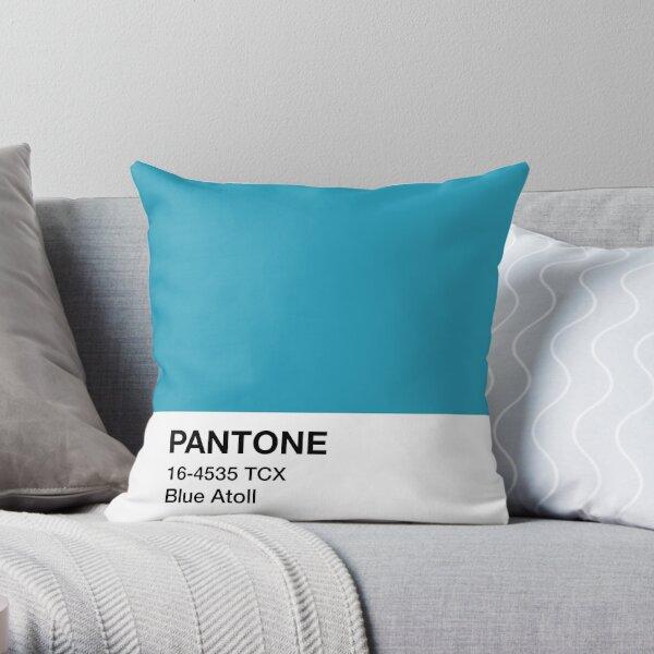 Pantone Blue Atoll Throw Pillow