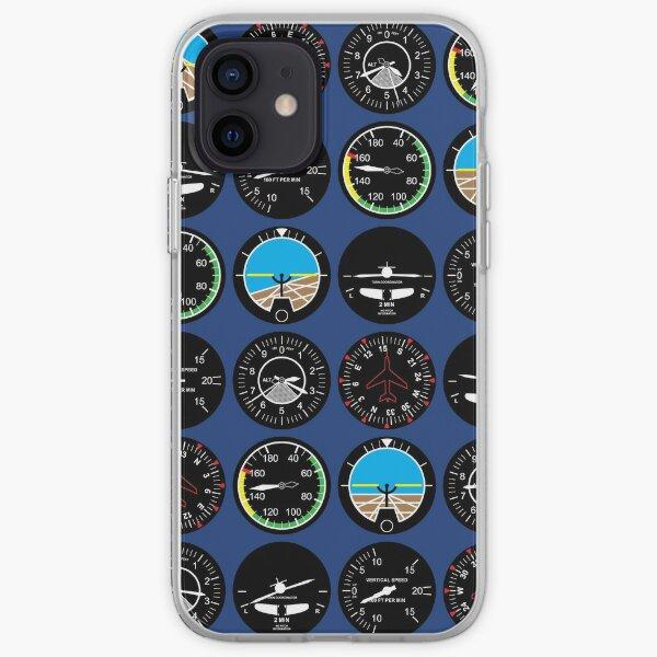 Instrumentos de vuelo Funda blanda para iPhone