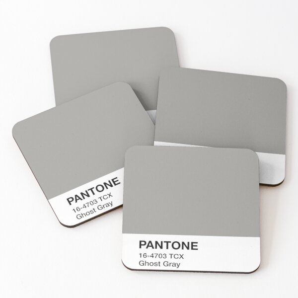 Pantone Ghost Gray Coasters (Set of 4)