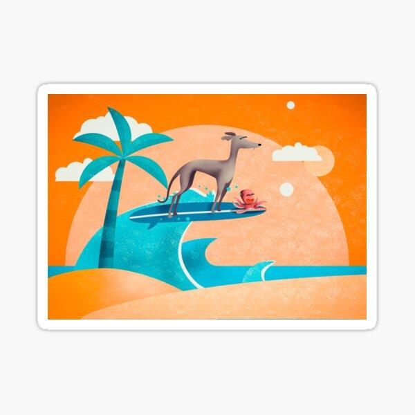 Wheee - Greyhound and hitchhiker  Sticker