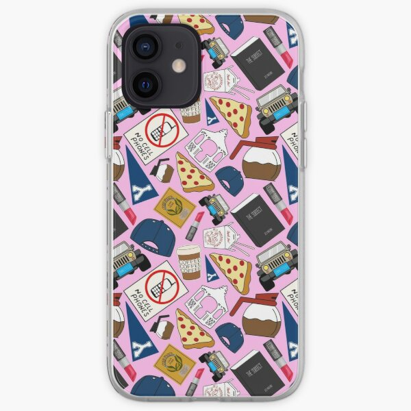 Luke's Coffee Cap No Cell Phones Diner Gazebo Pizza Icons All Over Print Pink Pack iPhone Soft Case