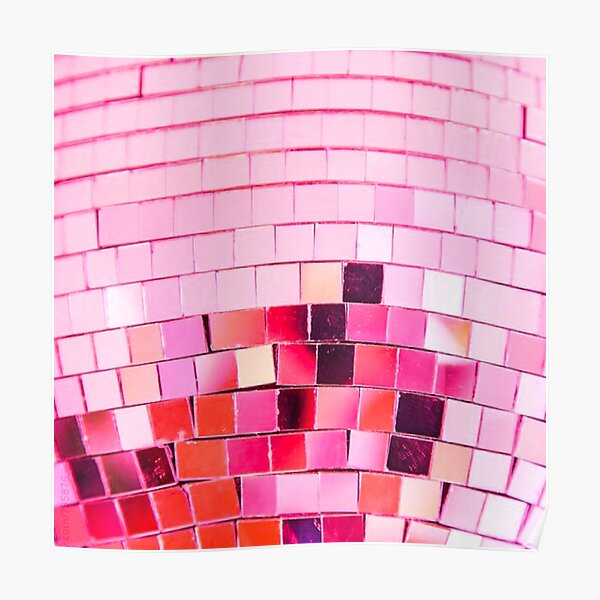 pink disco ball  Poster