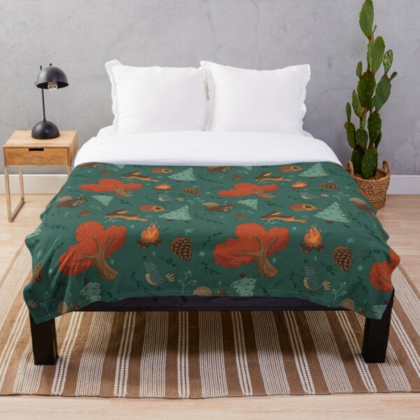 Forest day Throw Blanket