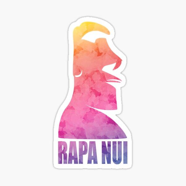 Moai Rapa Nui Color Sticker