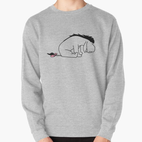 Sad Donkey Outline Pullover Sweatshirt