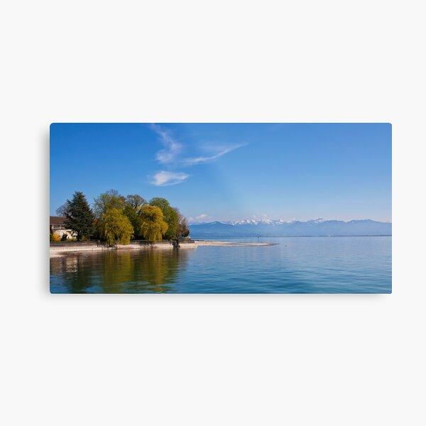 Austrian Alps on Lake Constance Metal Print