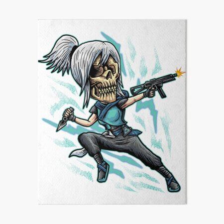 Valorant Jett Valorant Weapon Canvas Painting Valorant Gift,Custom Nick Name,Jett Canvas Gamer Gifts,Gamer Present Valorant Ghost Weapon