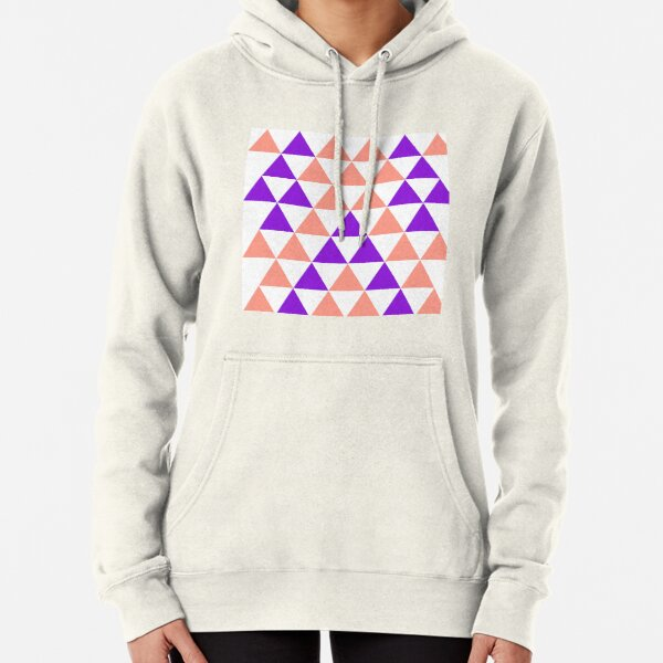 Colorful Triangle   Pattern Pullover Hoodie