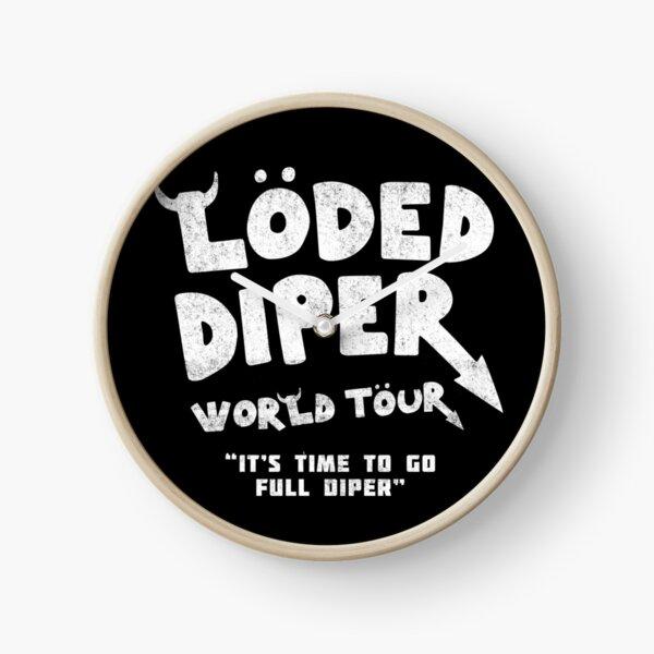 Loded Diper World Tour - vintage Clock