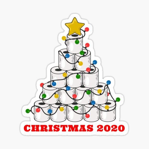 Christmas 2020 Toilet Paper Quarantine Tree  Sticker