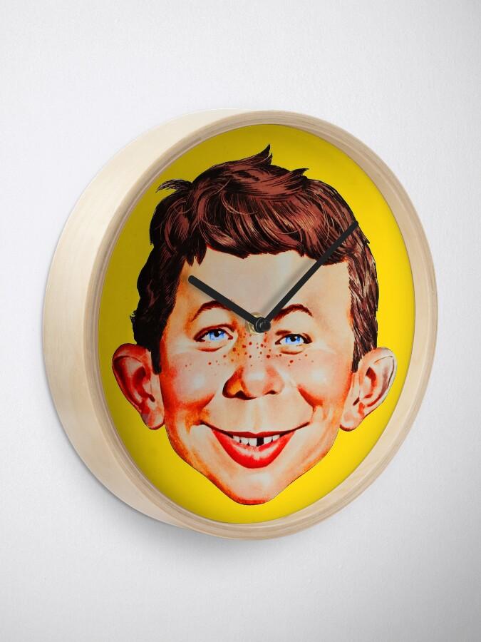 Alternate view of Mad Magazine Shirt, Sticker, Mask Clock