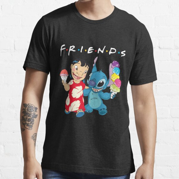 lilo and stitch people gift for fans happy and cute Essential T-Shirt