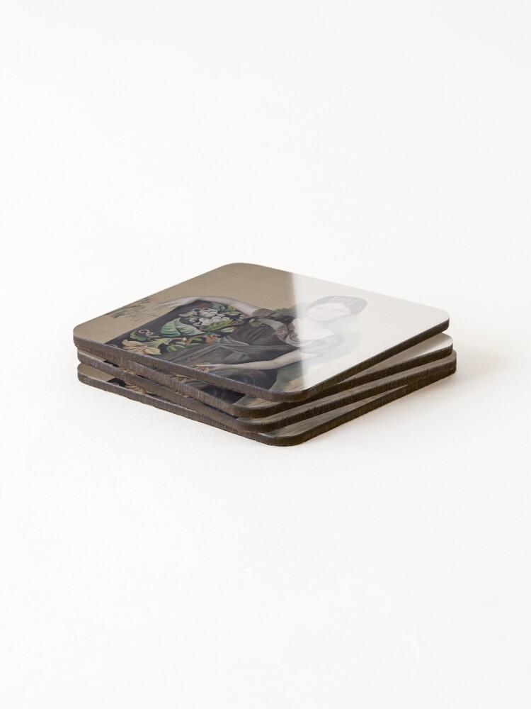 Alternate view of Portrait d'Olga dans un fauteuil (Olga in an Armchair) - Pablo Picasso Coasters (Set of 4)
