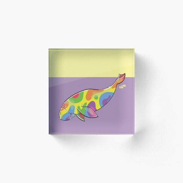 COMMIC OCEAN Rainbow Dugong Acrylic Block