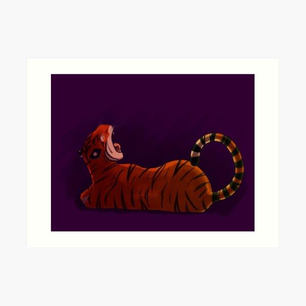 Purple tiger Art Print