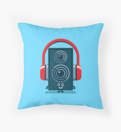 Character Building - Music Fan Throw Pillow