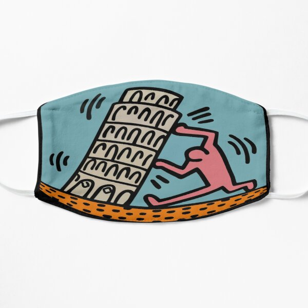 Keith Haring - Pisa Tower / 1988 / Talking Heads / Abstract / Pop Art Flat Mask