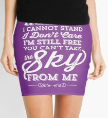 You Can't Take the Sky From Me - Purple Mini Skirt