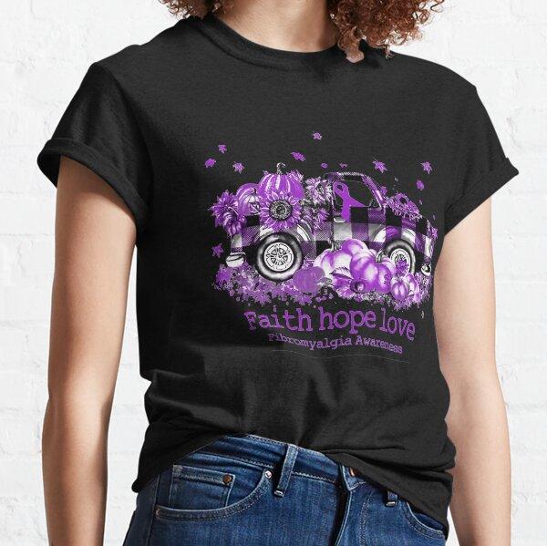 Faith Hope Love Fibromyalgia Awareness Classic T-Shirt