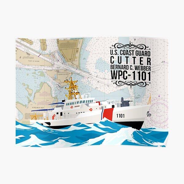 Chart Art - Coast Guard Cutter Bernard C Webber Poster